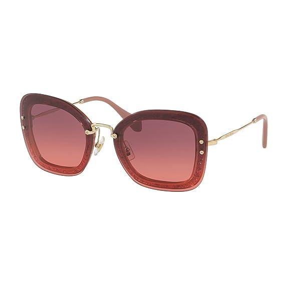 fa80b26c2fa5 Miu Miu Women's 0MU02TS IYKPZ0 65 Sunglasses, (Transperent Pink Violet)