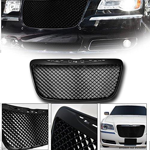 VXMOTOR 2011-2014 Chrysler 300 300C MATTE BLACK MESH FRONT HOOD BUMPER GRILL GRILLE GUARD