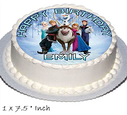 Frozen Birthday Cake Party Set Toppers with Any Name Includes Elsa