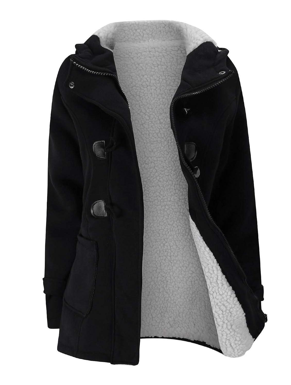 Black Verdusa Women's Slim Skinny Winter Warm Coat Hooded Jacket Outerwear