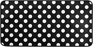 AGONA Anti Fatigue Kitchen Mat Black White Polka Dot Kitchen Floor Mat Soft Standing Mats Absorbent Area Rugs Non Slip Kitchen Rugs Bath Rug Runner Carpet for Home Decor Indoor Outdoor
