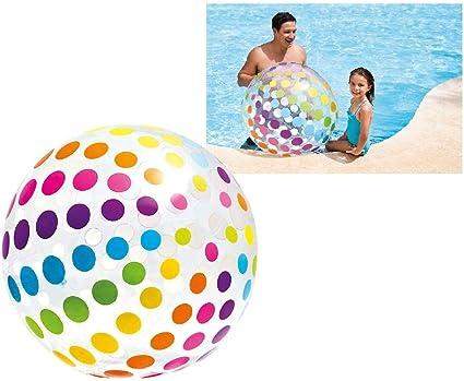 bath toys giant beach ball for the beach and pool com-four/® 2x inflatable beach ball /Ø 91 cm - 02 pieces beach ball with summery motifs