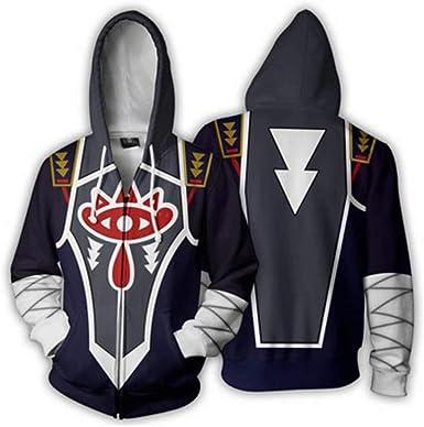 The legend of zelda 3D hoodie Sweatshirt Zip up jacket Fleece Cosplay Costume