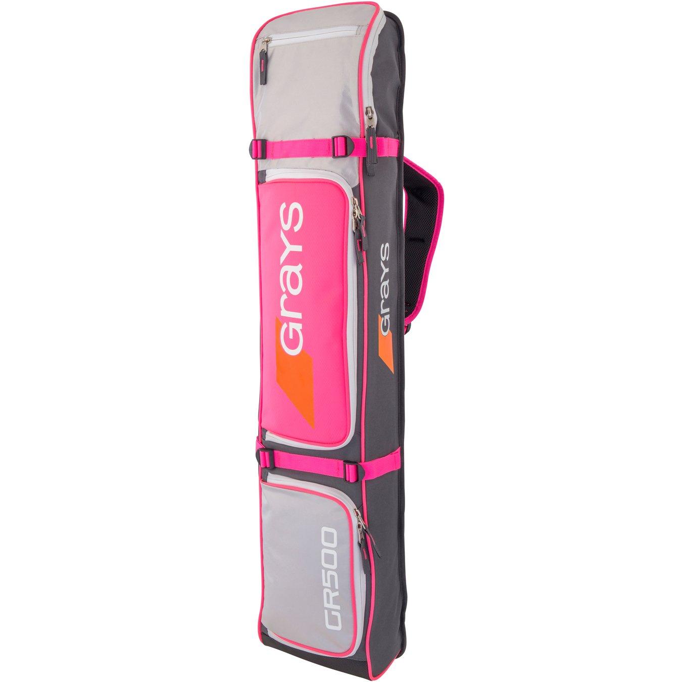 Grays Gr500 Stick Bag Grays Unisex GR500 Stick Bag Grey/Silver/Pink One Size 6603902