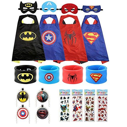gebra Superhero Dress Up Costumes 4-Pack For Kids