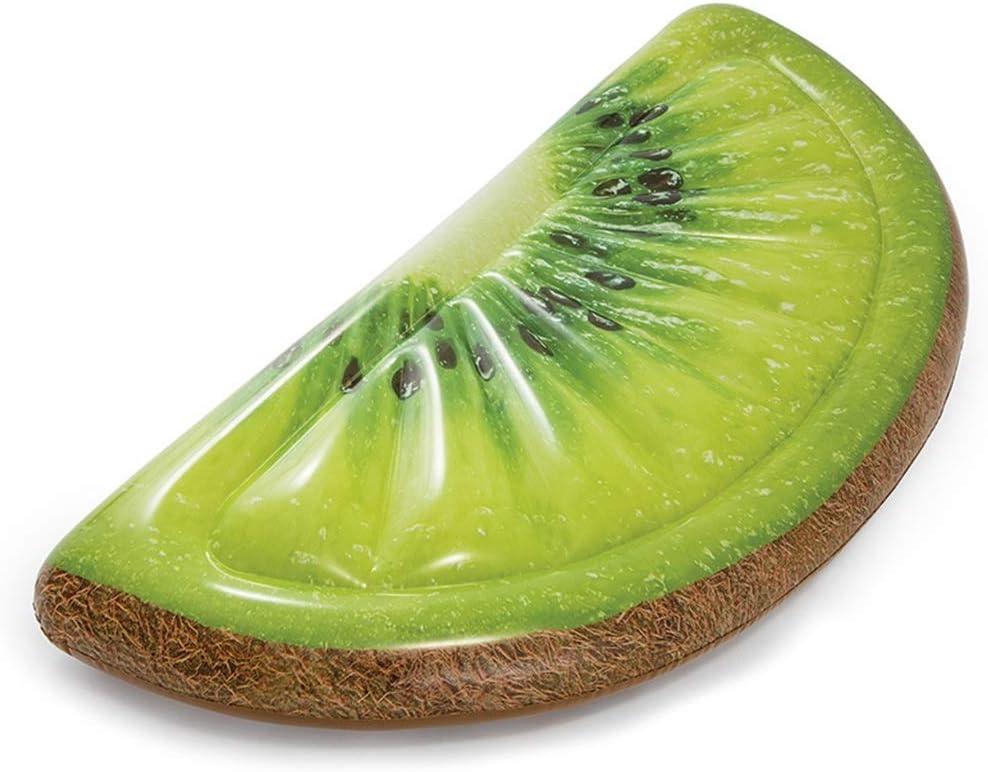 クリエイティブフルーツオレンジキウイインフレータブルフローティング行スイミングプールシーサイド大人フローティングベッド -可愛いデザイン (Color : Green, Size : 178M×85CM)