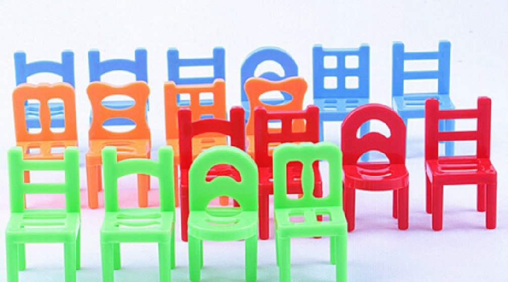 1set=18PCS/lot Family Board Game Children Educational Toy Balance Stacking Chairs Chair Stool Office Game by Yan Toy Gift (Image #2)