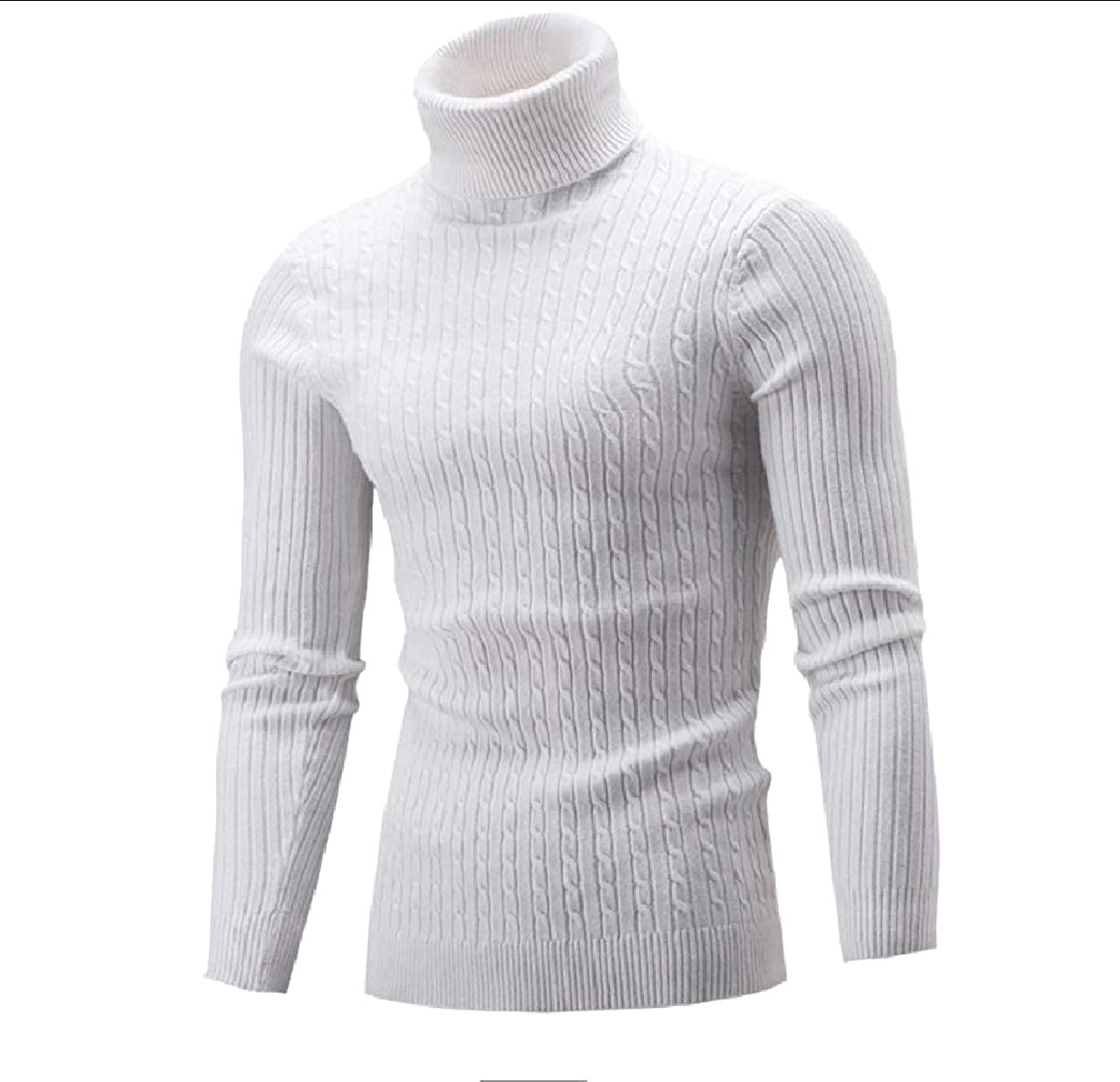 SportsX Men Turtleneck Basic Style Solid Long Sleeve Knitted Sweater