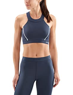 ffdc6bbd6177e Skins DNAmic Core Speed Sports Bra - AW18 Green  Amazon.co.uk  Clothing
