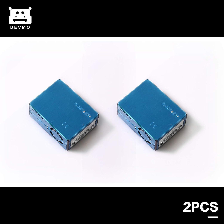 DEVMO 2PCS Digital Particle Concentration Laser Sensor PMS5003 PM2.5 PM10+Cable Compatible with Arduino