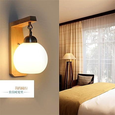 Pared de madera chino moderno dormitorio luces LED Lámpara de cabecera obras creativas Apliques /15x20x25cm
