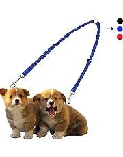 PETBABY Laisse de chien pour 2 chiens Laisse double Laisse extensible 19.6-31.4 pouces Laisse de chien Laisse pour la randonnée et l'entraînement