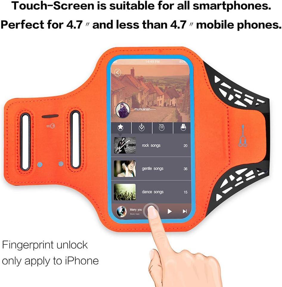 Juqilu Brassard de Sport iPhone 6//7-D/ébloquer L/écran /à Travers Lightly Touch