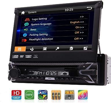 "KAMERA 7/"" AUTORADIO MIT NAVIGATION STEREO GPS TOUCH USB SD MP3 FM AUX IN 1DIN"