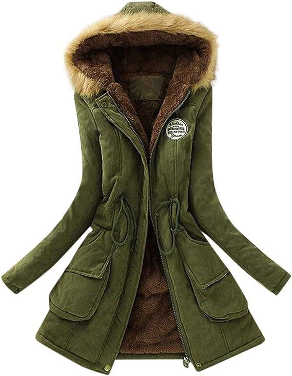 Große Damen Jacke Lange Kapuzenpullover Slim Mit Reißverschluss Kapuze Mode Winter Jacken Mantel Fit Ärmel Frau Yunyoud Einfarbig Größe WxBoedQErC