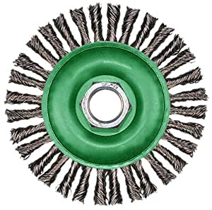 Hitachi 729295 6-Inch Cable Twist Knot Carbon Steel Wire Wheel Brush
