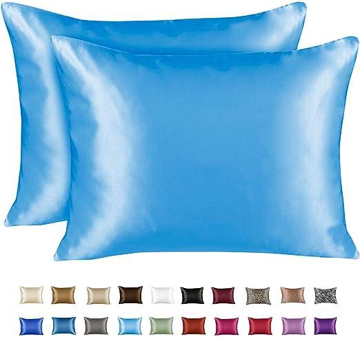 Amazon Com Shopbedding Luxury Satin Pillowcase For Hair King