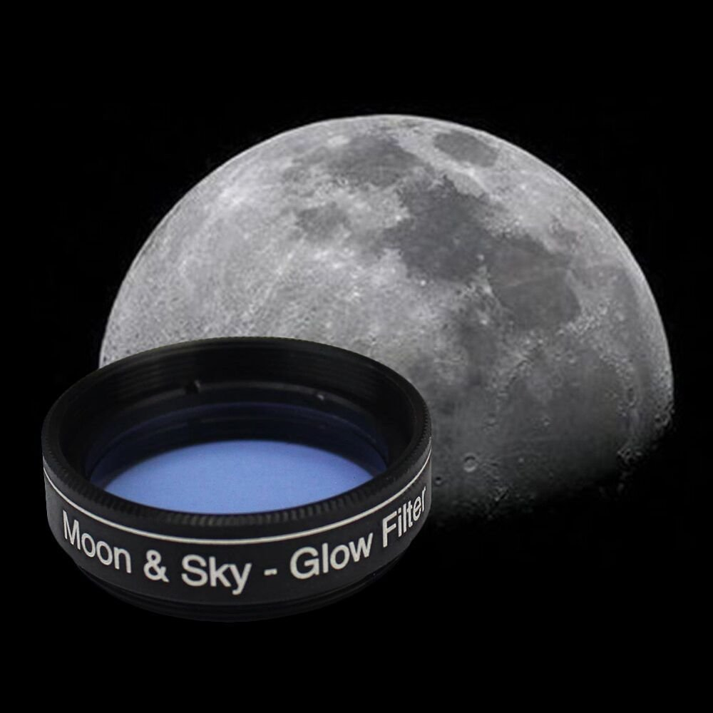 "Gosky 1.25"" Moon Filter & 2X Barlow Kit for Telescope Eyepieces"