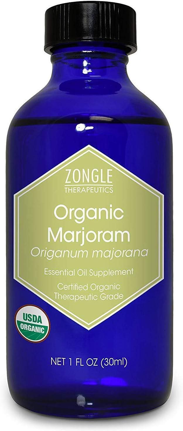 Zongle USDA Certified Organic Marjoram Essential Oil, Safe to Ingest, Origanum Majorana, 1 OZ