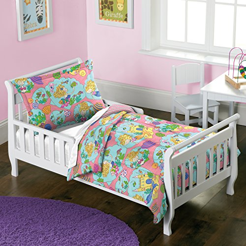 dream FACTORY Mermaid Castle Comforter Set, Toddler, Pink