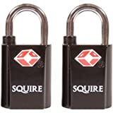 Pack of 2 keyed alike squire suitcase luggage locks.