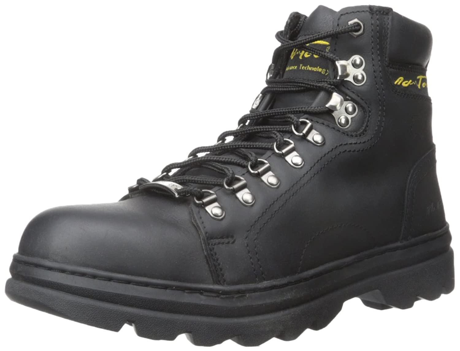 AdTec Men's 6 Inch Steel Toe Work Hiker, Black, 8.5 W US B003RQCHMI