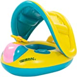 Baby Float,VLUNT Safety Kids' Float Inflatable Swimming Ring with Canopy, Sunshade,UV Pretection