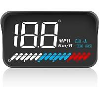ACECAR Head up Display Car Universal Dual System 3.5'' HUD OBD II/GPS Interface,Vehicle Speed MPH KM/h,Engine RPM…