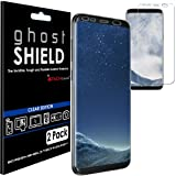 [Pack of 2] TECHGEAR® Samsung Galaxy S8 ghostSHIELD Edition Genuine Reinforced TPU Screen Protector Guard Covers with FULL Screen Coverage including Curved Screen Area [3D Curved Edges Protection] (SM-G950)