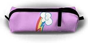 EWFBVa Durable Zipper Stationery Bag Rainbow Dash Cutie Mark Big Capacity Pencil Case