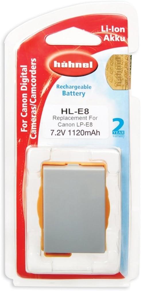 Hähnel HL-E8 - Batería para Canon Li-Ion LP-E8 , 7.2V, 1120mAh: Amazon.es: Electrónica