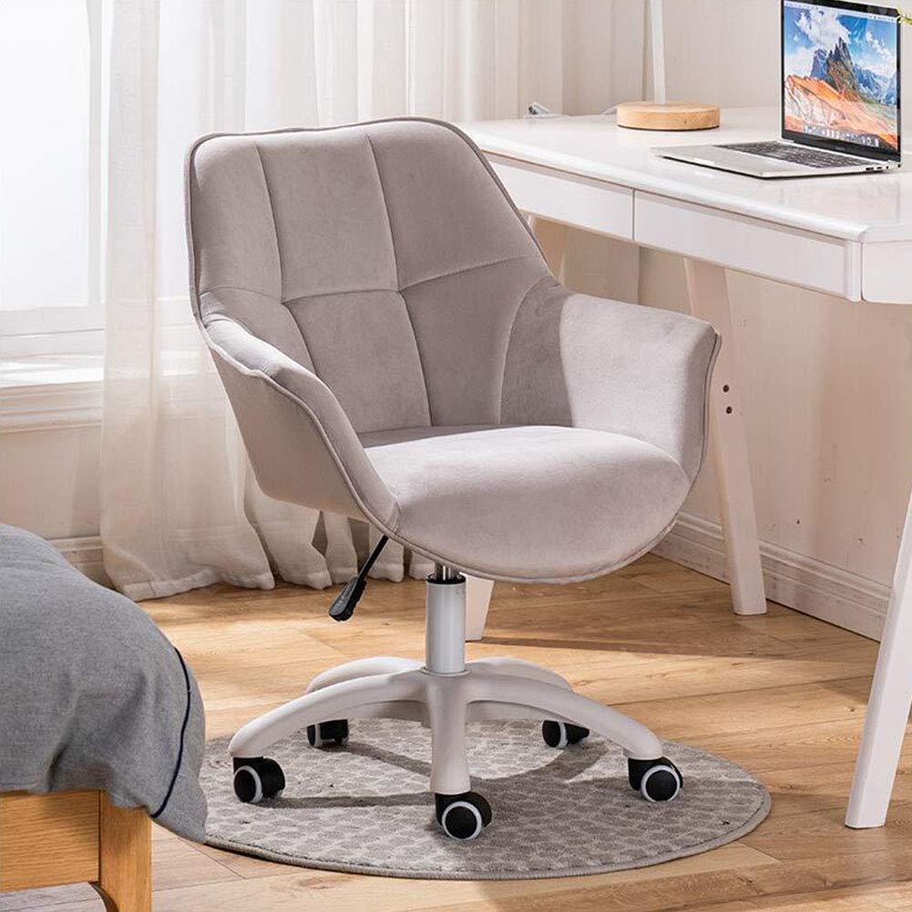 Sammet tyg datorstolar, ergonomiska, justerbara svängbara höjder skrivbordsstolar, nylonbas hem kontor stol, lätt att montera (färg: T4) T8