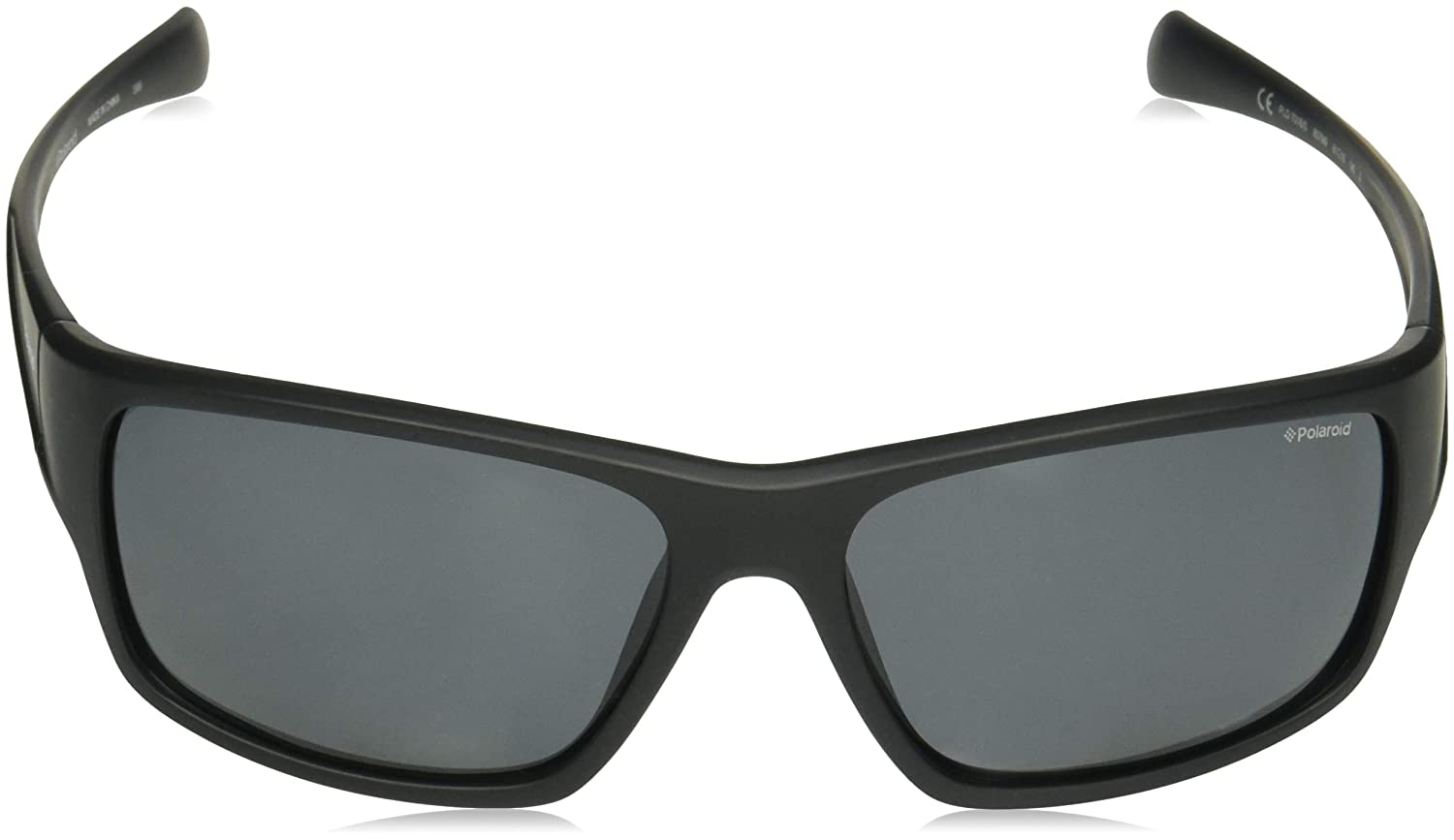 e5e2d83c9618 Amazon.com  Polaroid Sunglasses Men s Pld7016s Polarized Rectangular  Sunglasses BLACK 61 mm  Clothing