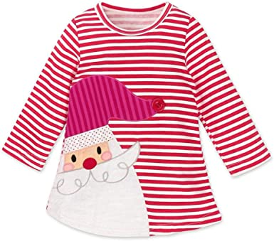 Christmas Outfits Clothes Toddler Kids Baby Girls Santa Striped Princess Dress