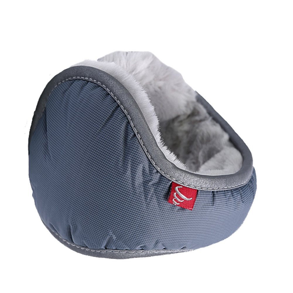 Leories Waterproof Ear Warmer Unisex Foldable Ear Warmers Polar Fleece Winter Earmuffs Grey