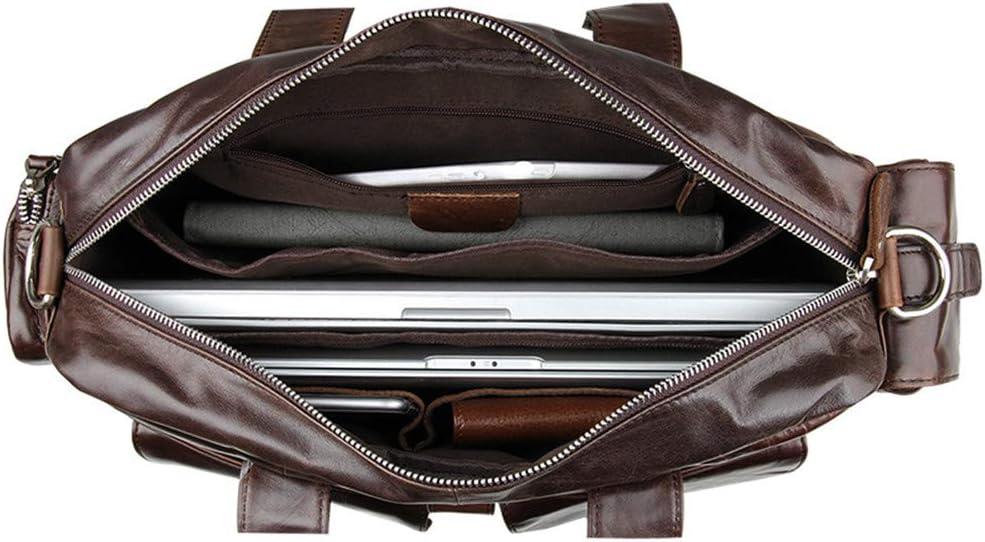 XUROM Briefcase Bag Mens Briefcase Laptop Bag Shoulder Bag Leather Crossbody Bag 15