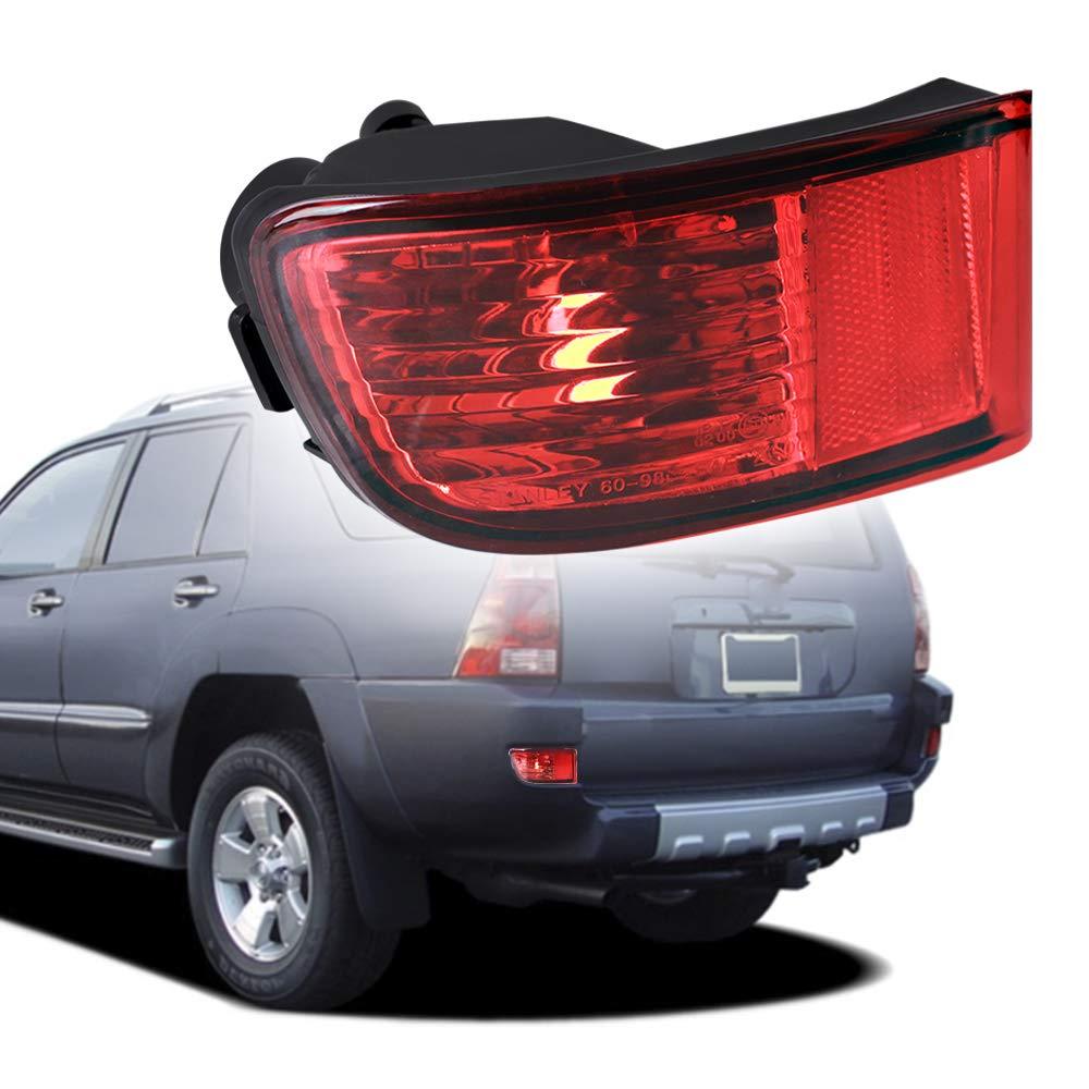 MOFORKIT Rear Left Side Marker Bumper Reflector Fog Lamp Cover Corner Parking Light Lens Compatible with Toyota 4Runner 2003 to 2005