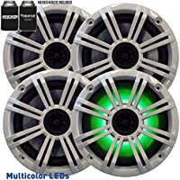 Kicker 6.5 White LED Marine Speakers (QTY 4) 2 pairs of OEM replacement speakers