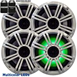 Kicker 6.5'' White LED Marine Speakers (QTY 4) 2 pairs of OEM replacement speakers