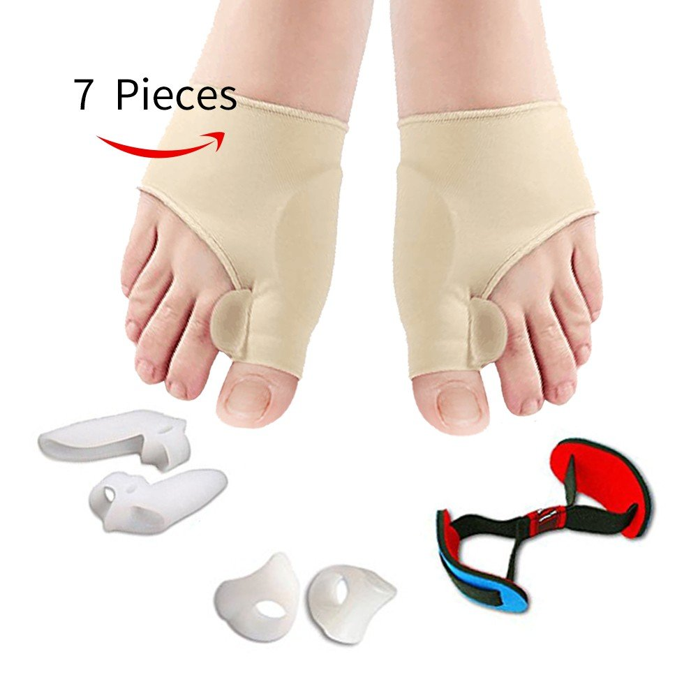Bunion Corrector, Bunion Corrector Relief Sleeves Kit Gel Bunion Pads Cushion Bunion Protector of Toe Separators Spacers Straighteners splint for Hammer Toe, Tailors Bunion