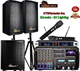 IDOLpro 8000Watts Professional Karaoke Mixing Amplifier With Bluetooth/Equalizer/HDMI Plus Speaker and Wireless Microphone Karaoke System
