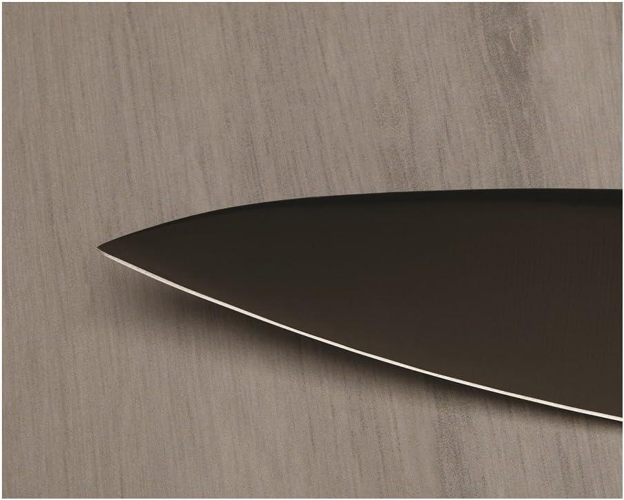 Cuchillo de cocina gris 20,3 x 2 x 0,5 cm acero inoxidable Kuhn Rikon 26551 Colori+
