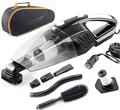 Asbjxny Aspirador 2 en 1 12V Aspiradora Seca y húmeda 5000Pa Aspirador de Coche de Alta Potencia con Luces LED Aspirador Coche@Negro: Amazon.es: Hogar