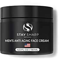 Anti Aging Face Cream for Men - 4 oz Mens Face Moisturizer and Facial Lotion for...