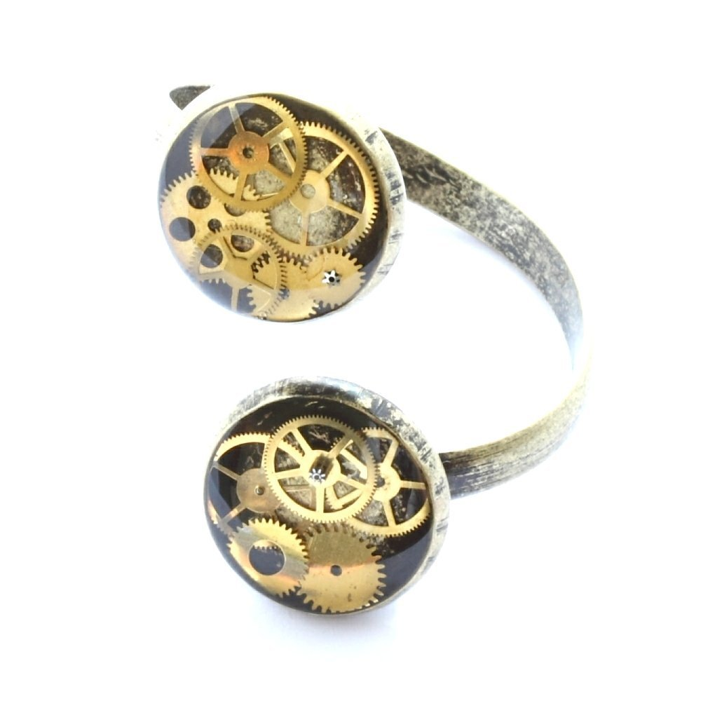 Adjustable Steampunk Ring Bronze