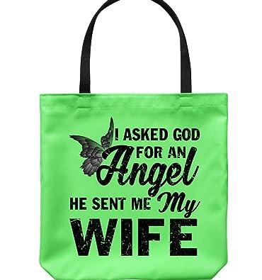 Amazon.com: Bolsas de lona con texto en inglés «I Love My ...