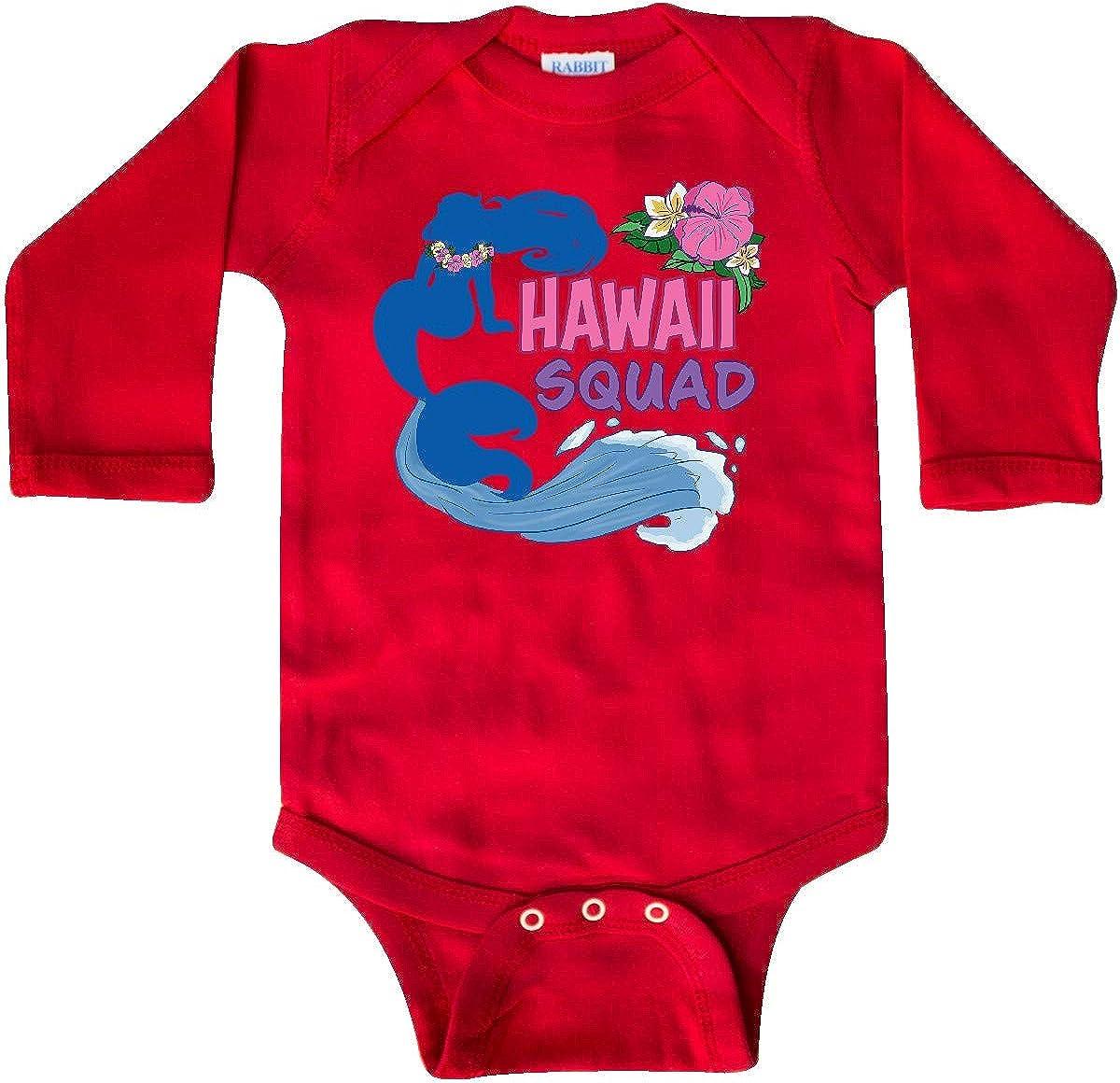 inktastic Hawaii Squad-Lei Mermaid Waves and Flowers Long Sleeve Creeper