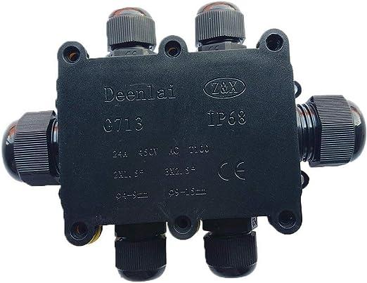 Abzweigdose Kabeldurchmesser /Ø 4mm-15mm Erdkabel Klemmdose IP68 Wasserdicht Anschlussdose 3 Wege Verbindungsdose Elektrischer Au/ßenverteilerdose