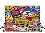 Kate 10ft(W)x10ft(H) Photography Backdrop Hip Hop 90's Party Decoration Photo Booth Props