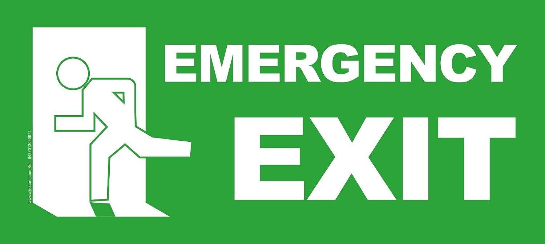 akrocard Cartel Resistente PVC - EMERGENCY EXIT - Señaletica ...